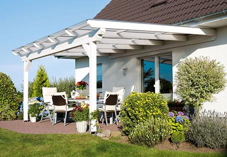 Terrassenüberdachung - Wenn´s auf und unter dem Dach grünt ...